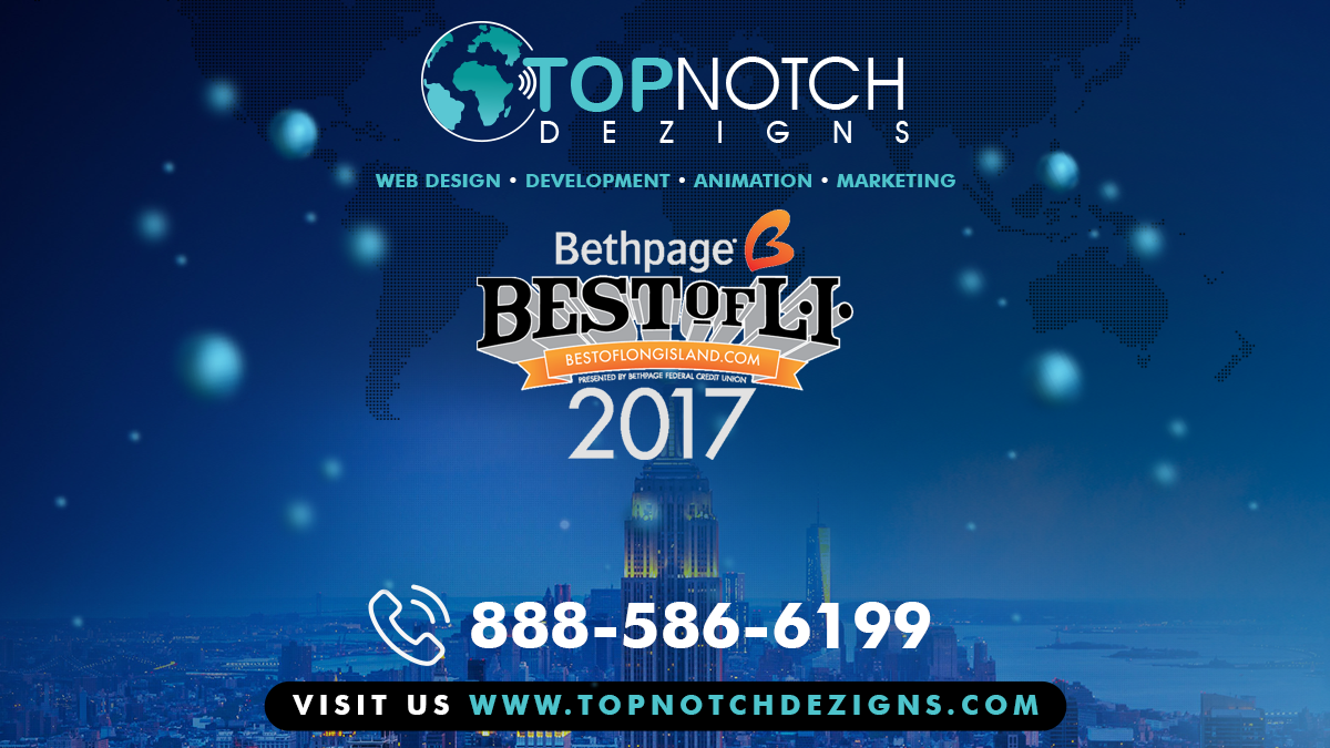 We Have Been Rated as Best of Long Island 2017