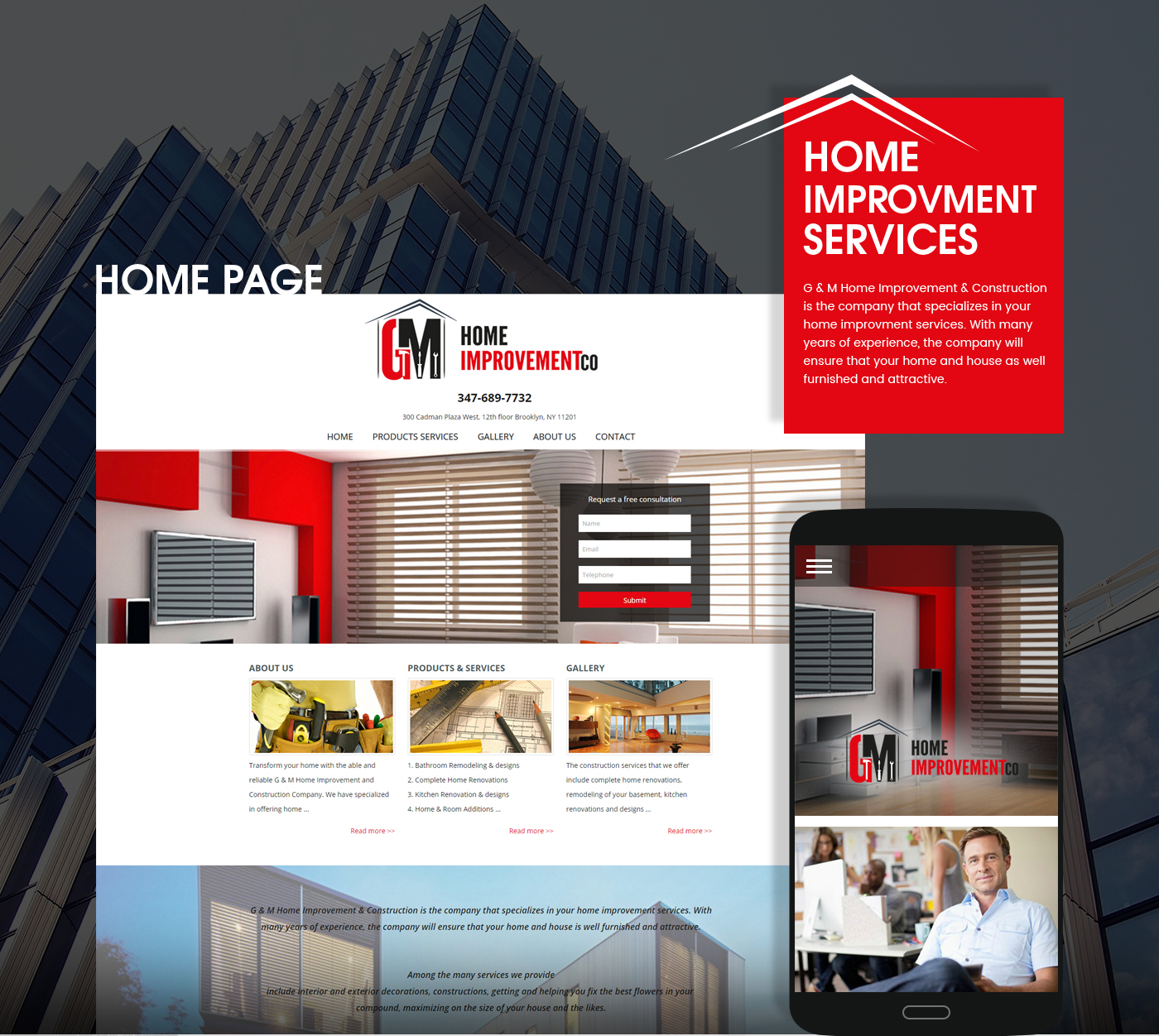 Gnm home improvement web design and development top - Best home improvement website design ...