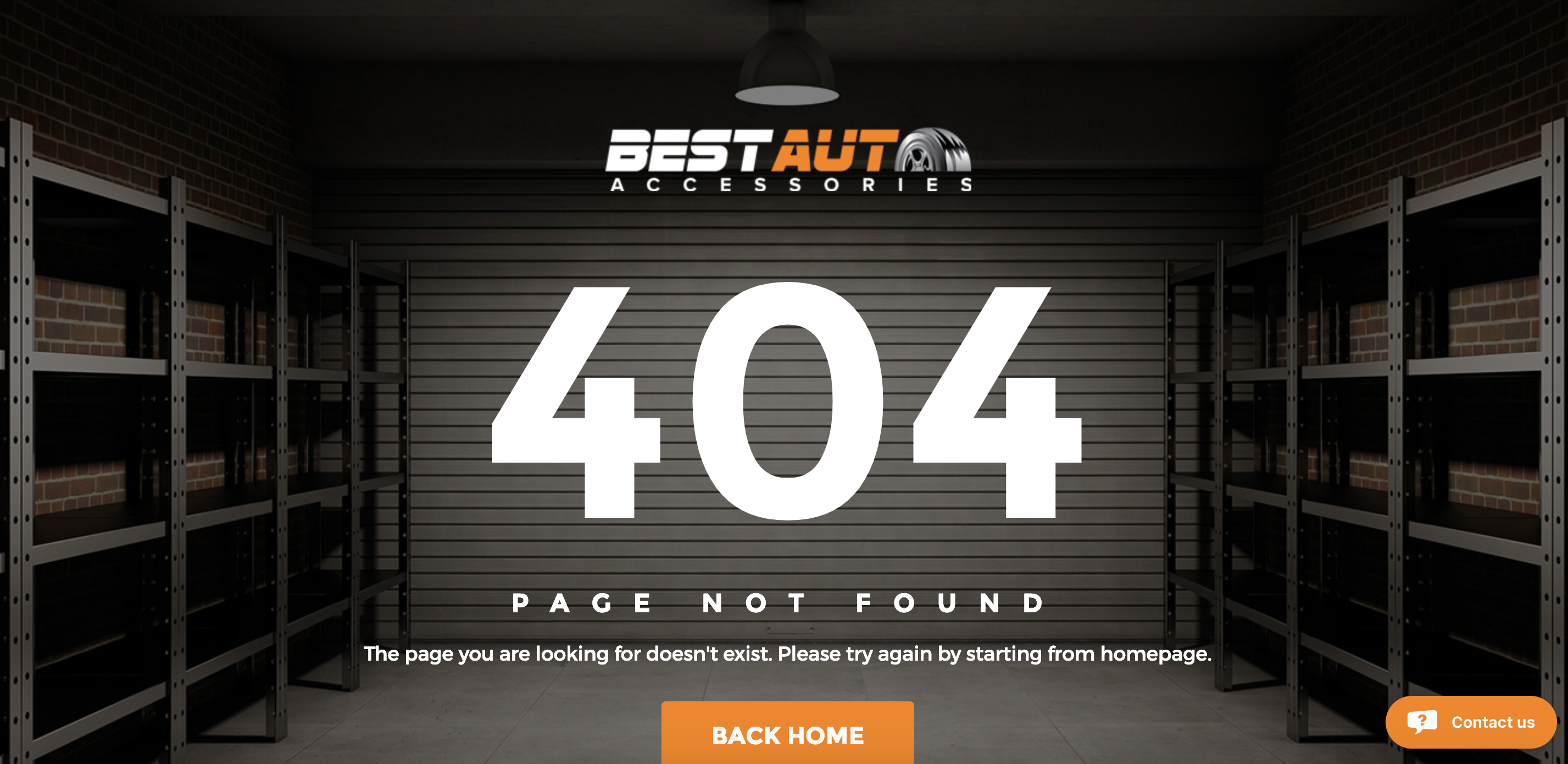 Best Auto Accessories 404 page error created by TND