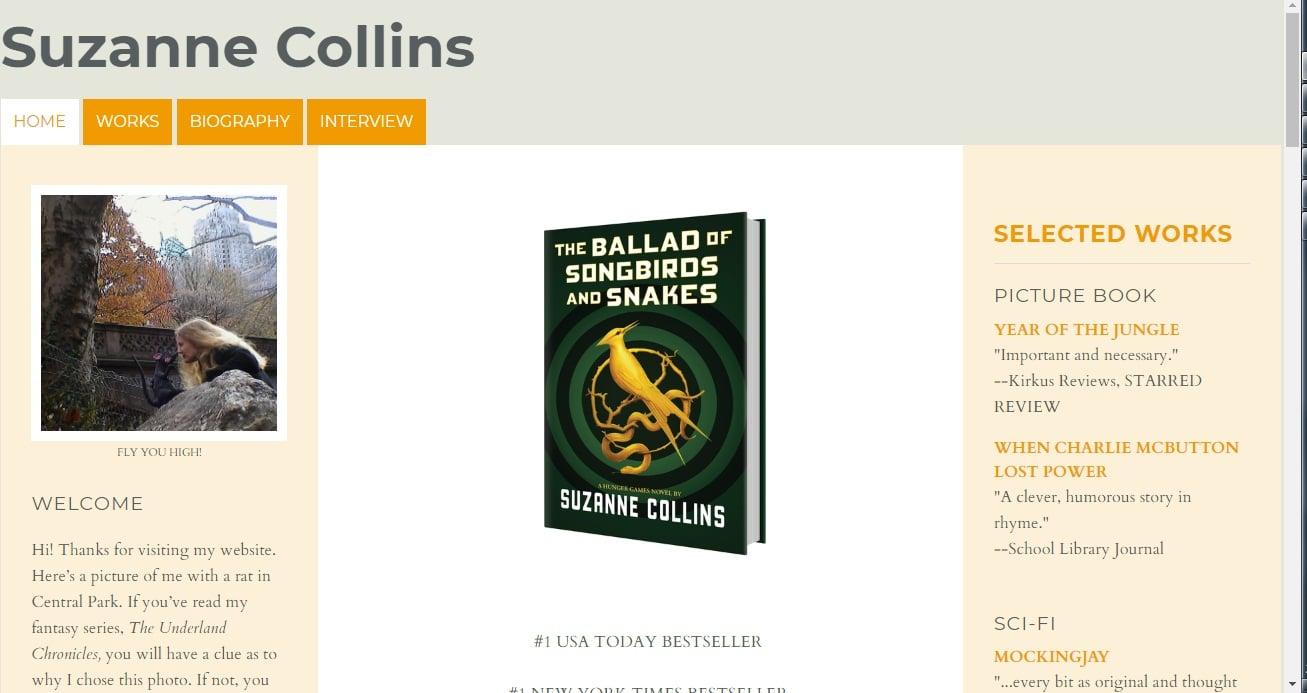Suzanne Collins Books - Top Notch Dezigns
