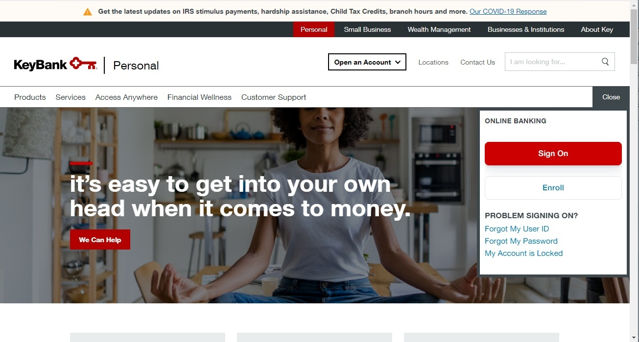 KeyBank website - Top Notch Dezigns