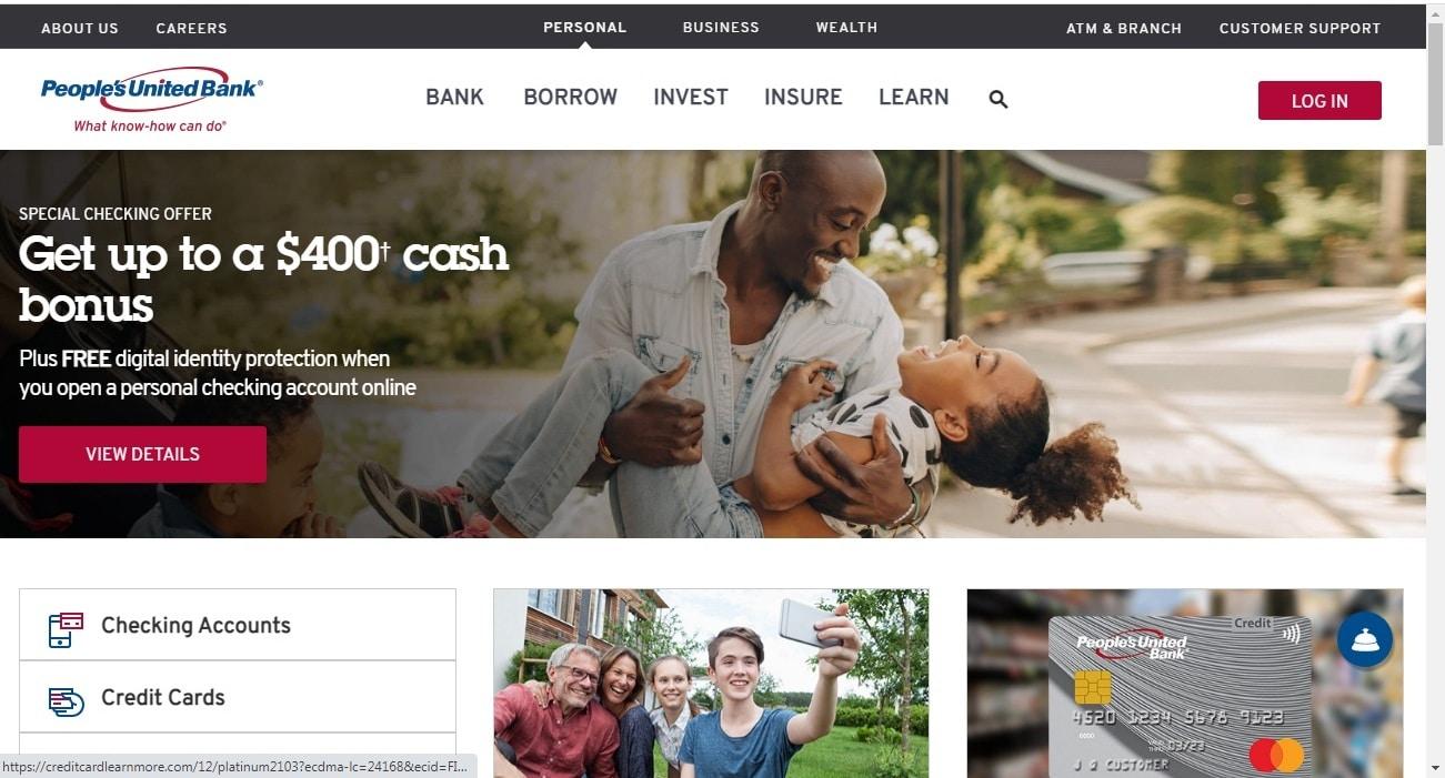 People's United Bank website - top Notch Dezigns