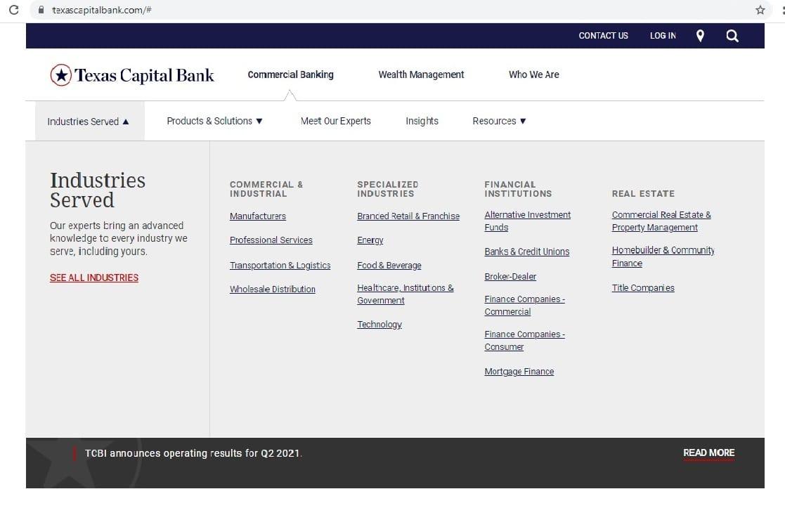 Texas Capital Bank - Top Notch Dezigns